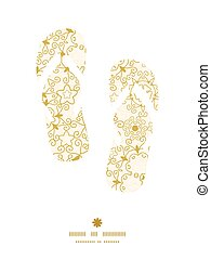 Vector abstract swirls old paper texture flip flops...
