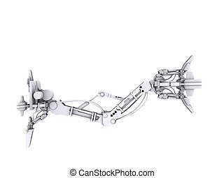 robotic arm - 3d rendered illustration of a robotic arm