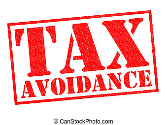 TAX AVOIDANCE red Rubber Stamp over a white background.