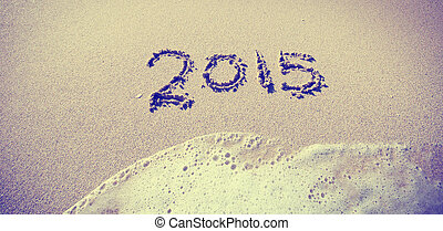 Welcoming the new year of 2015 at the beach - Celebrating...
