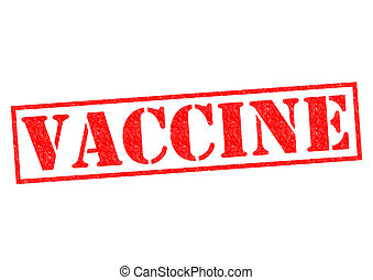 VACCINE red Rubber Stamp over a white background.