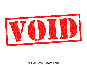 VOID red Rubber Stamp over a white background