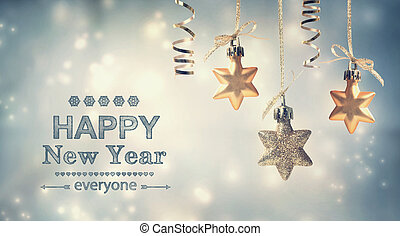 Happy New Year Everyone! - Happy New Year everyone text with...
