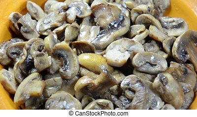 Fresh mushroom baking on a plate