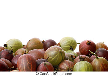 Background with gooseberries