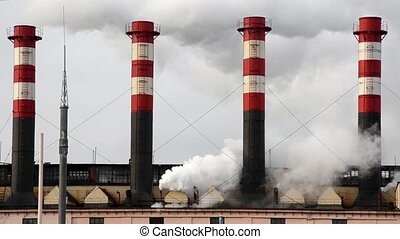 Emissions to the atmosphere. industrial pipes