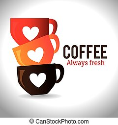 Coffee design, vector illustration - Coffee design over...