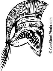 legionary helmet - Vector illustration old legionary helmet