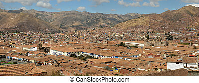 Panorama of the city of Cusco, Peru
