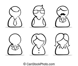 business people icon set - A collection of a Business people...
