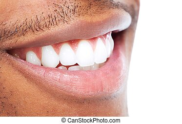 Smile - African American man smile Dental health care