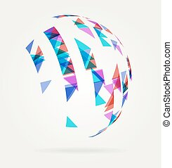 Abstract Globe Design Background