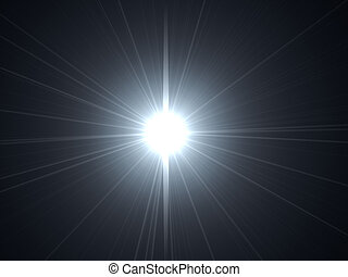 lens flare - 3d rendered illustration of a lens flare