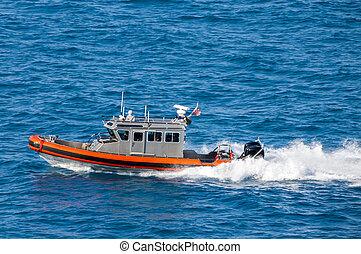 coast guard - US Coast Guard on duty
