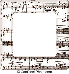 Music Notes Picture Frame - Music notes picture frame with...