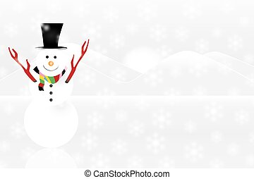 white snowman with realistic snow