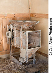 old rice milling machine - old wooden rice milling machine...