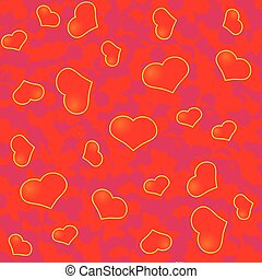 Abstract Valentine's day background with many red hearts