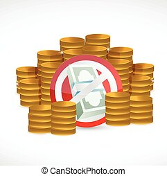 no money concept illustration design over a white background