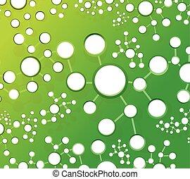 green atom link network illustration