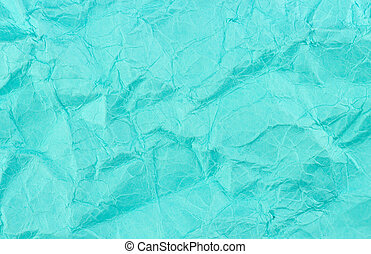 Blue teal crumbled recycled paper background texture