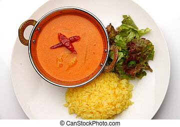 red curry is the one of typical food in Thailand