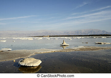 strange islands - salt of Dead sea, Israel
