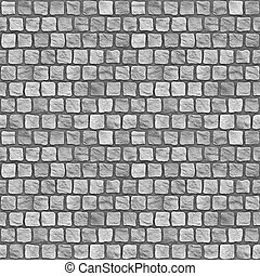 Cobblestones - A seamless tiling texture. Illustration of...
