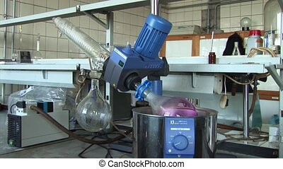 Mixing solution in a laboratory