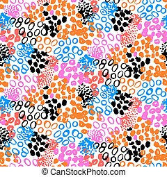 Hand painted vector pattern with splatters - Hand painted...