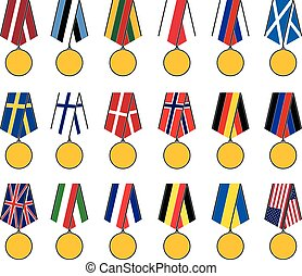 set of national medals