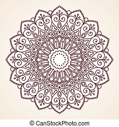 Ornamental round lace pattern. This is file of EPS10 format.