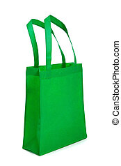 Green Shopping Bag with Handles - A green shopping bag with...