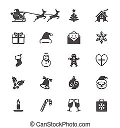 Christmas flat icons - Simple vector icons. Clear and sharp....