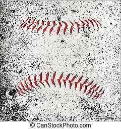 Grunge Baseball Stitches - Red Baseball Stitches beneath a...