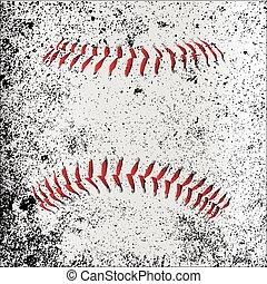 Grunge Baseball Stitches - Red Baseball Stitches beneath a...