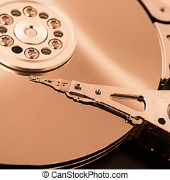 hard disk - reader of a hard disk closeup