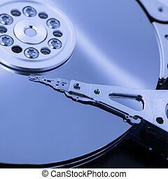 hard disk - reader of a hard disk