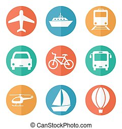 Transport related icons