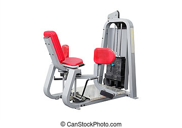 gym equipment - Interior of a fitness hall with fitness...