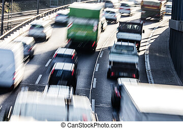 cars on highway
