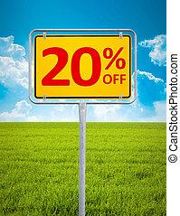 20 percent sale