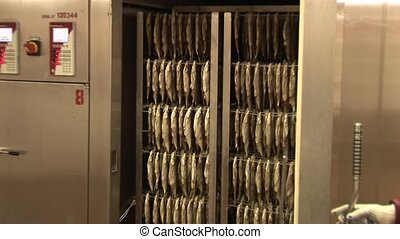 Fish processing plant. Fish of cold