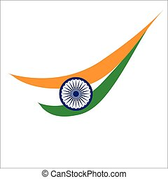 indian flag style graphics