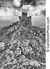 Rocca Calascio - The imposing castle of Rocca Calascio in...