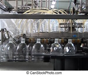 Transparent PET bottles production