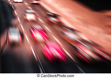 car race on a highway