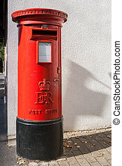 British red post box - Traditional red British Post Box...