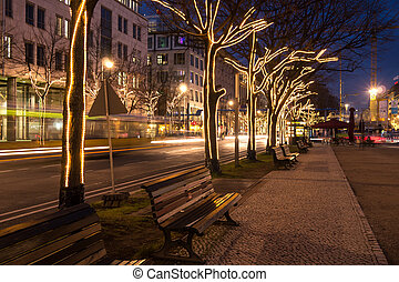 unter den linden and christmas decoration in berlin