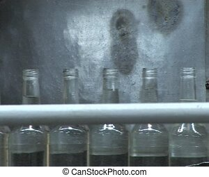 Conveyor bottling vodka